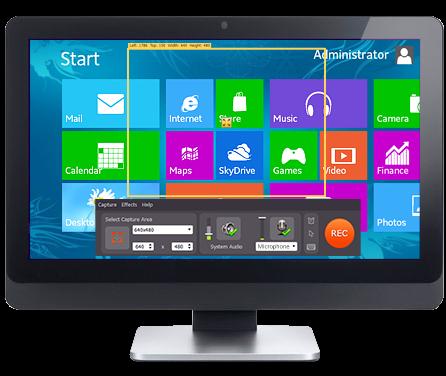 Screen recorder per registrare attivit su desktop o - La finestra di fronte streaming ...
